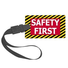 Safety-First-Sticker.gif Luggage Tag