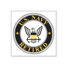 "Navy-Retired-Bonnie-3.gif Square Sticker 3"" x 3"""