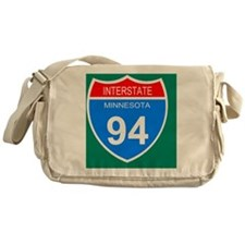 Sign-Minnesota-Interstate-94-Mousepa Messenger Bag