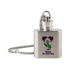 St-Urho-Shirt-2.gif Flask Necklace