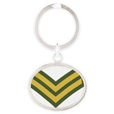 Royal-Marines-Corporal-Black-Shirt Oval Keychain