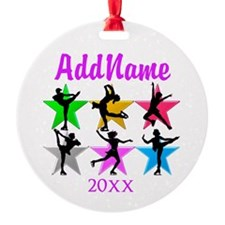 TALENTED SKATER Round Ornament