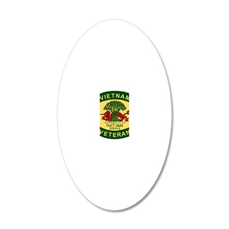 Military-Patch-Vietnam-Veter 20x12 Oval Wall Decal