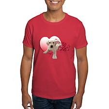 Labrador Puppy Heart T-Shirt