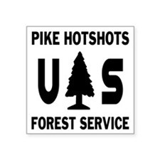 "Pike-Hotshots-Shirtback-Bla Square Sticker 3"" x 3"""