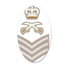 British-Army-PTI-SSgt-Stone Oval Car Magnet