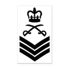 British-Army-PTI-Staff-Sergea Rectangle Car Magnet