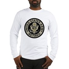 Army-Retired-Subdued Long Sleeve T-Shirt