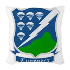 Army-506th-Infantry-WWII-Curra Woven Throw Pillow