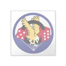 "Army-506th-Infantry-Para-Di Square Sticker 3"" x 3"""