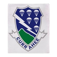 Army-506th-Infantry-Currahee Throw Blanket