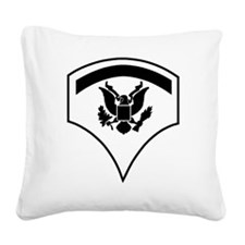 Army-SP5-Subdued Square Canvas Pillow