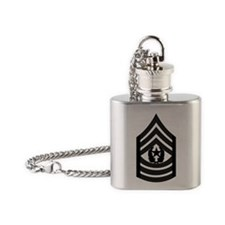 2-Army-CSM-Subdued-Pin Flask Necklace
