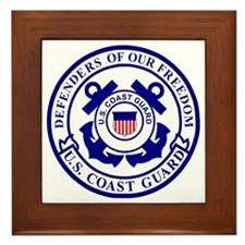 2-USCG-Defenders-Blue-White Framed Tile