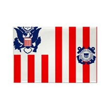 USCG-Flag-Ensign-Outlined Rectangle Magnet