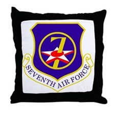 USAF-7th-AF-Shield Throw Pillow
