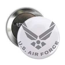 """USAF-Symbol-Gray-With-Curved-Text 2.25"""" Button"""