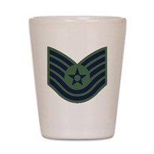 USAF-TSgt-Woodland Shot Glass