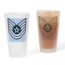 USAF-TSgt-Journal-Blue Drinking Glass