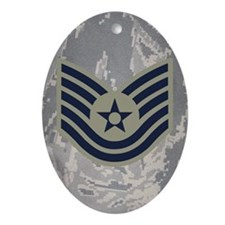 USAF-TSgt-Mousepad-ABU Oval Ornament