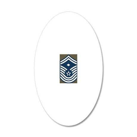 USAF-First-CMSgt-Old-Magnet- 20x12 Oval Wall Decal
