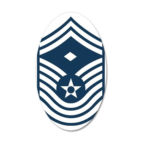 USAF-First-CMSgt-Old-Blue-PN 35x21 Oval Wall Decal