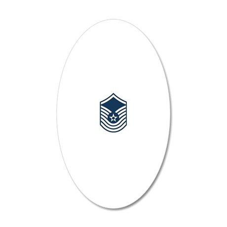 USAF-SMSgt-Old-Blue 20x12 Oval Wall Decal