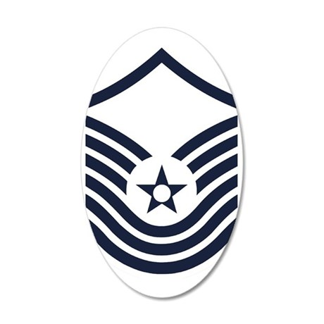 USAF-SMSgt-Old-Inverse 35x21 Oval Wall Decal