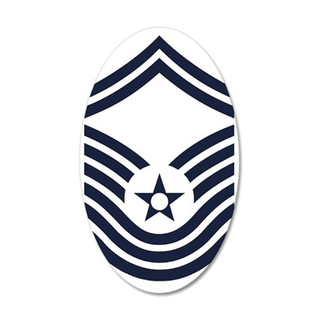 USAF-CMSgt-Old-Inverse 35x21 Oval Wall Decal