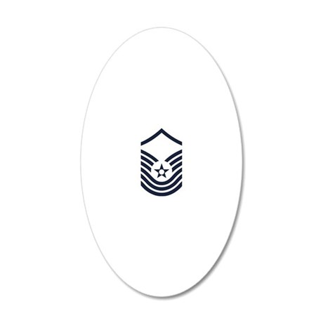 USAF-SMSgt-Old-Inverse-4-Inc 20x12 Oval Wall Decal