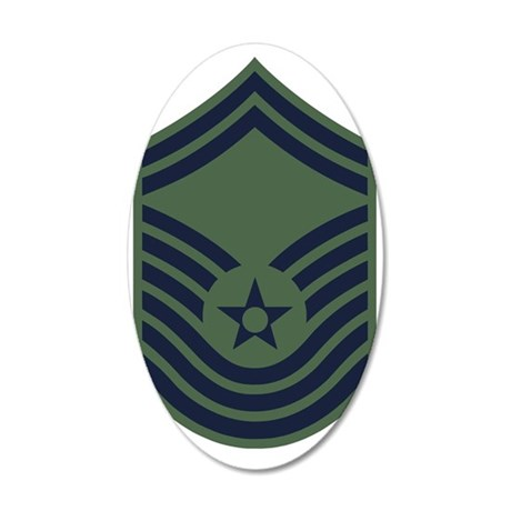 USAF-CMSgt-Old-Green 35x21 Oval Wall Decal