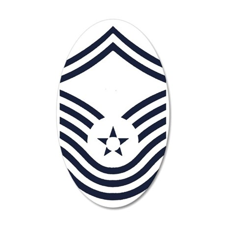 USAF-CMSgt-Old-Inverse-PNG 35x21 Oval Wall Decal