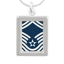 USAF-CMSgt-Old-Journal-2 Silver Portrait Necklace