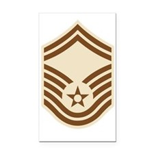 USAF-SMSgt-Desert-PNG Rectangle Car Magnet