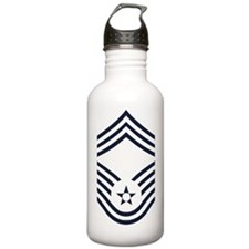 USAF-CMSgt-Inverse-PNG Water Bottle