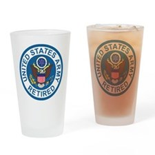 Army-Retired-Patch-8th-Infantry-Div Drinking Glass