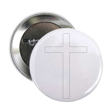 Simple Cross 2.25&quot; Button (10 pack)