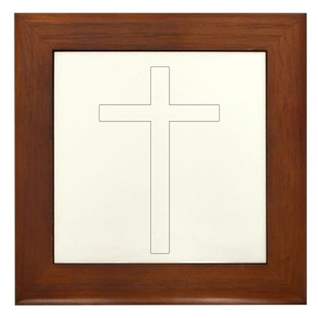 Simple Cross Framed Tile