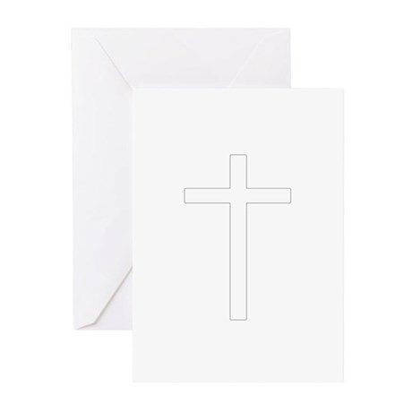 Simple Cross Greeting Cards (Pk of 10)