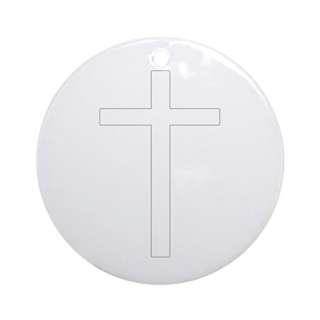 Simple Cross Ornament (Round)