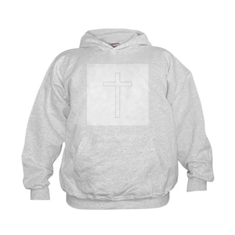 Simple Cross Kids Hoodie