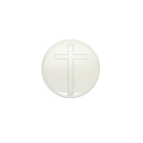 Simple Cross Mini Button (10 pack)