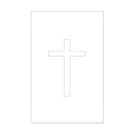 Simple Cross Mini Poster Print