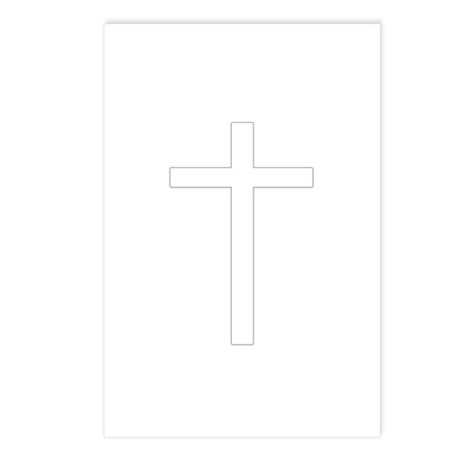 Simple Cross Postcards (Package of 8)