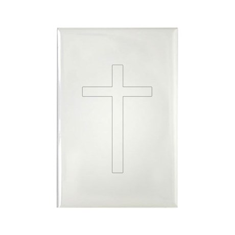 Simple Cross Rectangle Magnet (100 pack)