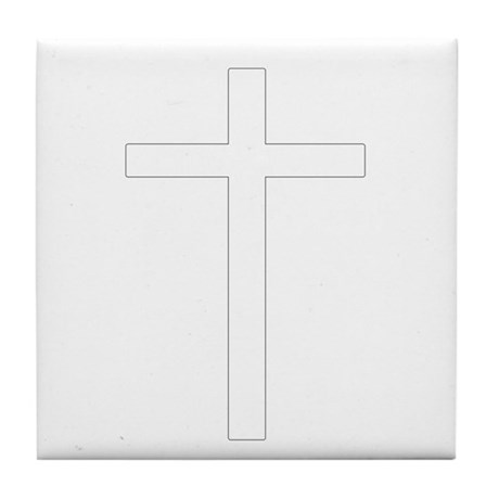 Simple Cross Tile Coaster