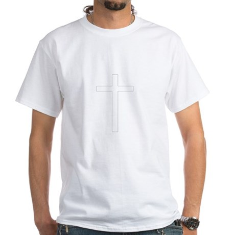 Simple Cross White T-Shirt