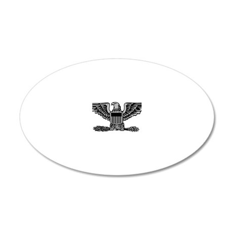 USAF-Col-Silver 20x12 Oval Wall Decal
