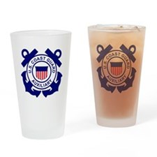 USCGAux-Logo-Bonnie Drinking Glass