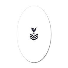 2-USCG-Rank-IV1-Blue-Crow-PN 20x12 Oval Wall Decal